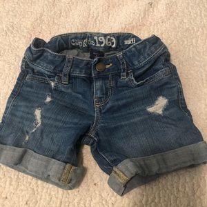 Distressed Gap jean shorts
